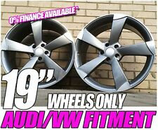 "4x Brand New 19"" Audi TTRS Rotor Black Edition Style Alloy Wheels A4 A5 A6 A7 A8"