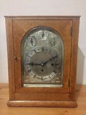 Antique English Made Spring Driven Bracket Clock 9 Gongs Dual Chimes