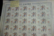 Zaire Mint Nh Hoard of Full Stamp Sheets Scott Value $840.00