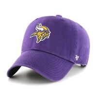 Minnesota Vikings 47 Brand Clean Up Adjustable On Field Cotton Hat Dad Cap NFL