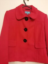 Marks And Spencer Ladies Jacket Blazer Red Petite UK 10 Excellent Condition