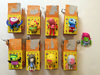 KIDROBOT HEROES OF BURGERTOWN SET OF 9 JON BURGERMAN VINYL ART TOY MINI FIGURES