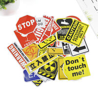 10/50Pcs Authentic Mixed Color Warning Stickers Skateboard Luggage Car Laptop
