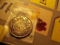 1951 Canada Silver 50 Cent Coin Id#j197.