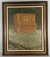 Gilbert Williams Original Oil Painting - Meadow Melodies - 31x37 Framed - 1970