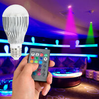 9W E27 Magic RGB LED Light Bulb 16 Colors Changing Home Lamp + IR Remote Control