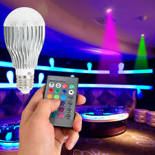 E27 AC85-265V 9W RGB LED Light Color Change Lamp Bulb+Remote Control Rechargeabl