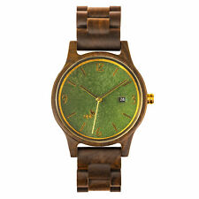 OPIS UR-U1: UNISEX RETRO WOOD WATCH WITH RELIEF DIAL