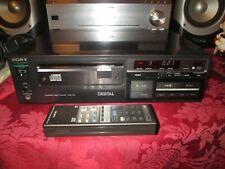 Rare Sony CDP-101 First CD Player W/ Original Remote RM-101 ES ESD Vintage