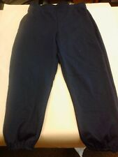 Russell Athletic Pants Team Sports w/drawstring Youth Large Navy Blue Brand New