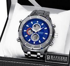 1 giorno asta! b.o.k Blue Cronografo Orologio da uomo, Tag & EM BOSS Box SRP £ 300+