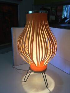PEAR shape SCULPTURAL mid century modern cloth table lamp 1950s-1960s EAMES era