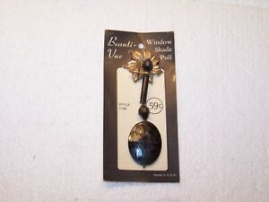 NOS NIP new on a card Beauti Vue Window Shade Pull Black Style 1100