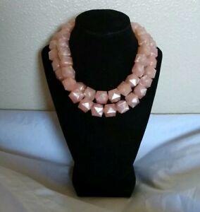 Sugarfix by Baublebar Women's Bold Beaded Pink Blush Statement Necklace