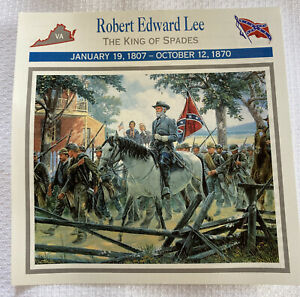 civil war card Robert Edward Lee The King Of Spades VTG