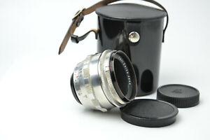 Biotar 58mm f2 Silver 12 blades M42 lens Red T S/N 3645719 SERVICED!