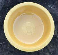 "Vintage 1950s Fiestaware Yellow 8 1/2"" Nappy Serving Bowl Fiesta Original"