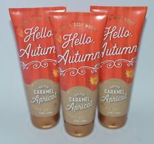 3 BATH BODY WORKS SALTED CARAMEL APRICOT CREAM HAND LOTION 8OZ LARGE PURE HONEY