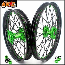 KKE 21/18 Spoke Wheels Rims Set For Kawasaki KX250F KX450F 2006-2021 Black Spoke