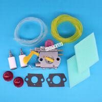 Carburetor For WeedEater Poulan Craftsman SST25C MX557 Rep 530071822 Tune Up Kit