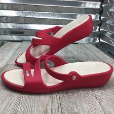 Crocs Women's Mule Sandal Pink Straps Mule Sandal Wedge Size 10