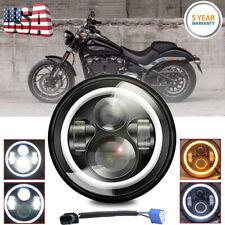7 inch Motorcycle LED Headlight Hi-Lo Beam for Harley Street Glide