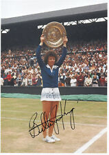 BILLIE JEAN KING - Signed 12x8 Photograph - SPORT - TENNIS