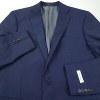 Calvin Klein Suit Separate Jacket Blazer Mens Size 42L Long Solid Blue