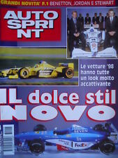Autosprint 4 1998 Novità F.1: Benetton, Jordan e Stewart. Parigi - Dakar SC.57
