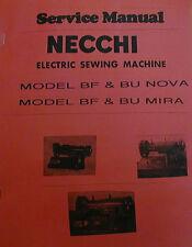 Necchi BF And BU Sewing Machine Service Manual