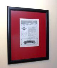 Original 1917 Framed Stutz Auto Roadster Art