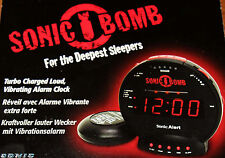 Vibrating Alarm Clock Bed Shaker Extra Loud 113dB Flashes Light hearing impaired