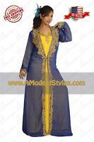 2 Piece ABAYA KAFTAN FARASHA Dubai Morocco Party Wedding Dress *USA SELLER* 0553