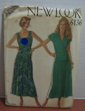 2 Dress Sewing Pattern For Knits New Look Sizes 8,10,12,14,16,18  #6136 Uncut