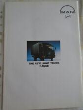 MAN Light truck range brochure c1990