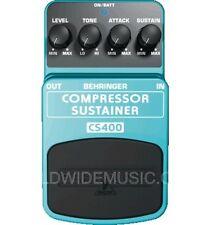 Behringer CS400 COMPRESSORE SUSTAINER chitarra / TASTIERA EFFETTO PEDALE / Stomp Box