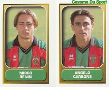 584 BENIN ANGELO CARBONE ITALIA TERNANA FIGURINE STICKER CALCIO MERLIN 2000-2001