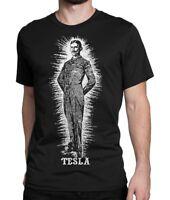 Nikola Tesla Art T-Shirt, Science Tee, Men's Women's All Sizes
