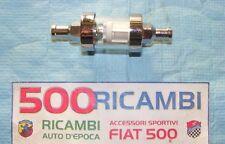 FIAT 500 F/L/R 126 FILTRO CARBURANTE BENZINA MOTORE CONICO IN METALLO CROMATO