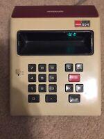 Vintage Gold/Maroon Sharp ELSI 804 Calculator (Made in Japan)