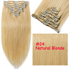 S-noilite Human Hair Extensions Clip In Hairpieces Full Head Chic Wearing Red MY