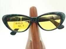 Vintage D'Arrigo 2073/S Green Black Marble Cat Eye Oval Sunglasses Frames