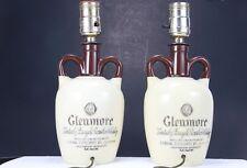 Glenmore Kentucky Straight Bourbon Whiskey Jug Bottle Lamp's Set Of 2 1947