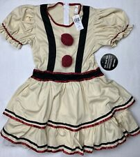 Hot Topic Vintage Clown Dress Ladies Size Xl Costume w/ Neck Piece Cosplay