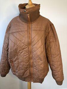 "Vintage 80's Men's Brown Ski Jacket SZ Chest 44"" #605"
