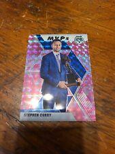 "2019/20 Panini Mosaic Stephen Curry ""MVP's"" Card #299, Pink Camo Prizm Version"