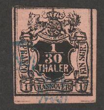 KAPPYSSTAMPS 5581  GERMANY HANOVER SCOTT #3 USED VERY FINE CATALOG $60