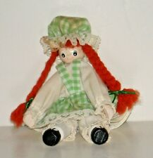 MOLLY GINGHAM CLOTHESPIN DOLL Vintage 6 inches Tall