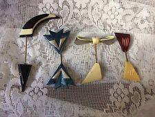Vintage plastic hat pins lot of 4 Gorgeous Unique Art deco