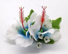 Hawaii Hair Clip Lei Party Luau Flower Dance Beach Photo Hibiscus Blue Heart